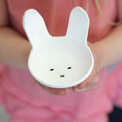 软陶/粘土手工制作可爱兔宝宝糖果盘