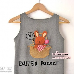 手工制作可爱复活节兔口袋图解教程