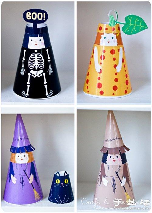 彩色纸张diy手工制作可爱小人玩偶