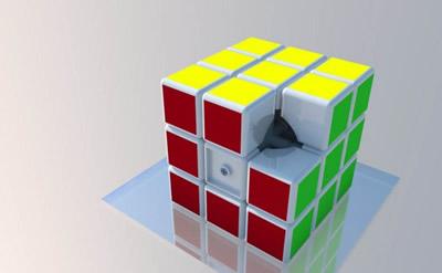 幼儿园 益智游戏  魔方结构三维立体模型图