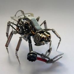 手表零部件+旧灯泡 牛人DIY机械昆虫军团