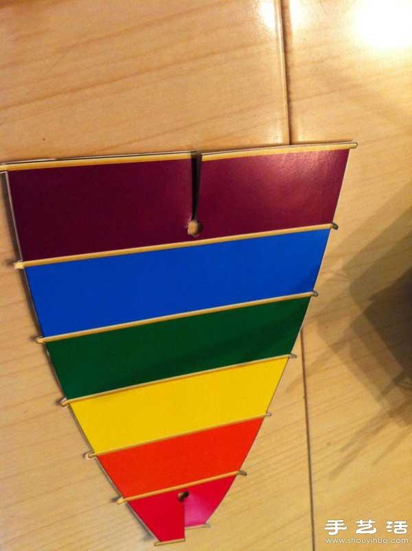 用塑料片或硬纸板手工制作一个船帆