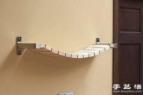 多余木地板废物利用制作时尚创意书架 - www.shouyihuo ...