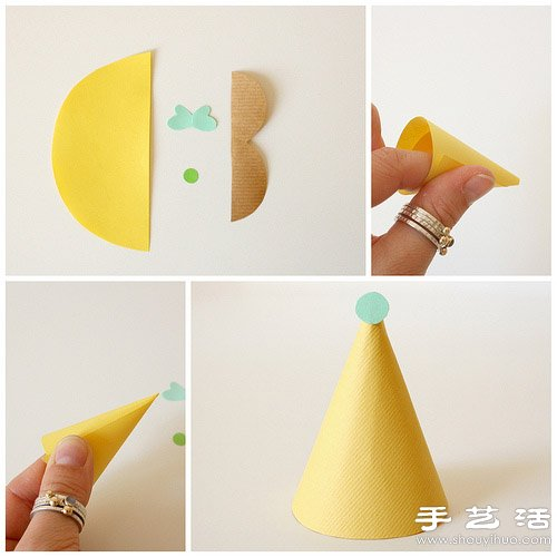 剪纸+鸡蛋 手工制作可爱小人玩偶