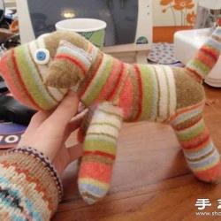 袜子制作毛绒绒的可爱小狗玩偶
