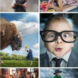 带有科幻色彩的儿童摄影照片