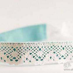 小清新蕾丝发带的制作方法