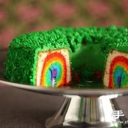 好吃好看又好玩的彩虹蛋糕做法