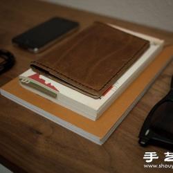 自制护照夹 皮夹子手工制作图解