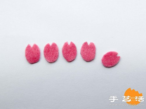 樱花造型可爱书签手工制作方法