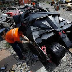 上海蝙蝠侠粉丝手工DIY蝙蝠侠战车