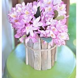玻璃瓶+木条 DIY制作环保又有味道的花瓶