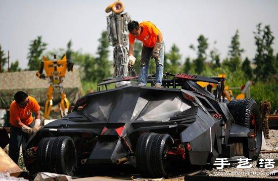 上海蝙蝠侠粉丝手工DIY蝙蝠侠战车 -  www.shouyihuo.com
