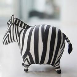 粘土DIY手工制作肥肥的搞笑斑马
