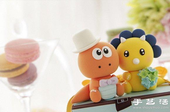 超萌的软陶制作小动物玩偶
