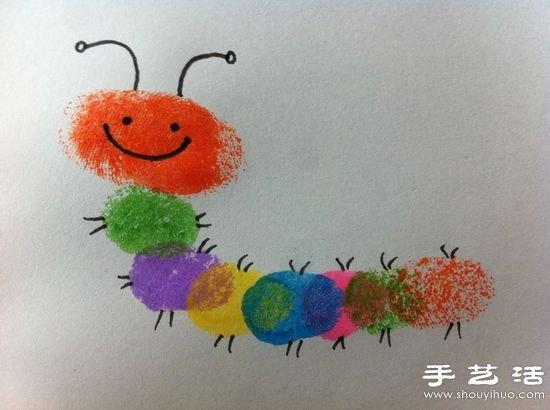 金子美术★超简单的儿童手指画