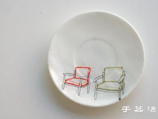 DIY杯碟上的創意互動圖案