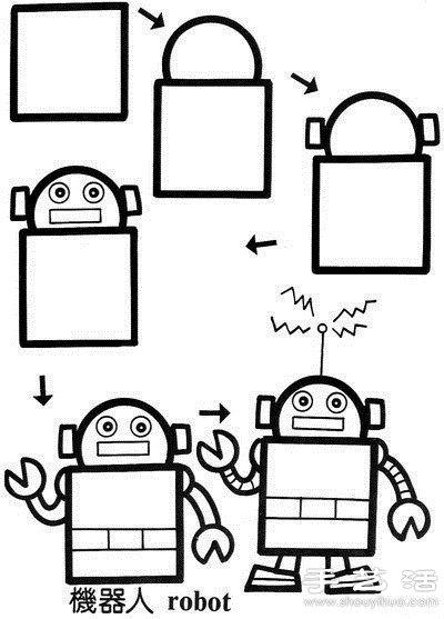 简笔画机器人