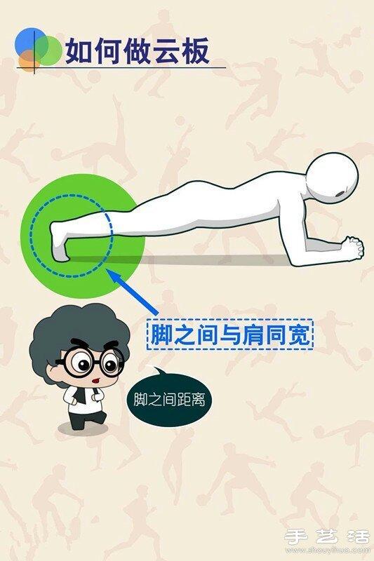 一起做雲板運動/平板支撐 鍛煉腹肌又塑形