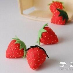 不织布教程:DIY制作可爱小草莓
