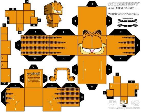 a4纸彩打制作可爱卡通人物纸模