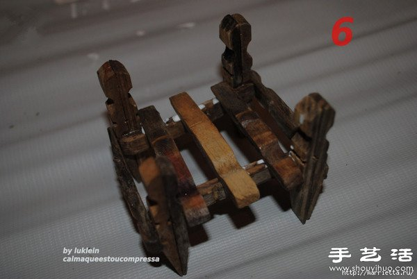 木夾子創意DIY 手工製作靠背椅