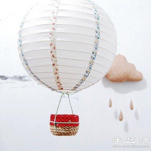 超可爱的热气球手工制作图解教程