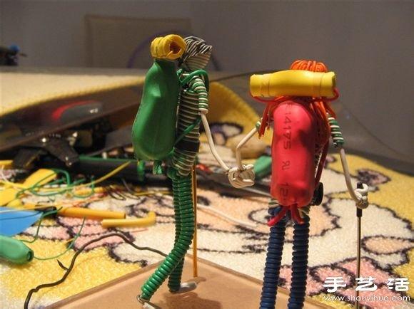 手工達人DIY電線小人的幸福生活