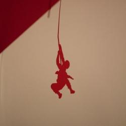 创意剪纸:红色堡垒激烈血战