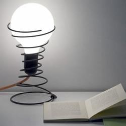 旧弹簧废物利用 DIY简洁时尚台灯