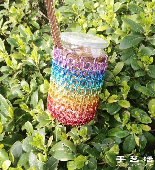 利用金属线DIY制作漂亮彩虹袋子