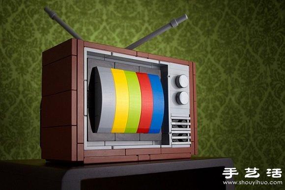 乐高积木DIY怀旧主题电子产品