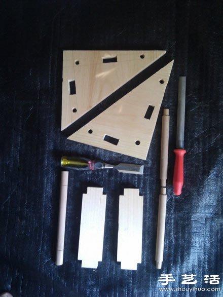 简单木工活手工制作简易书架