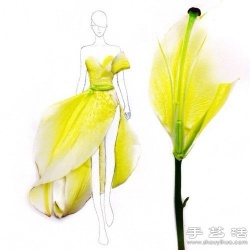 利用鲜花花瓣DIY的爆美裙子