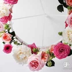 玫瑰花DIY制作漂亮的花环装饰品