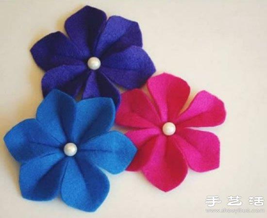 不织布毛毡布DIY手工制作漂亮花朵装饰