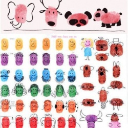 DIY超有爱的儿童指纹画