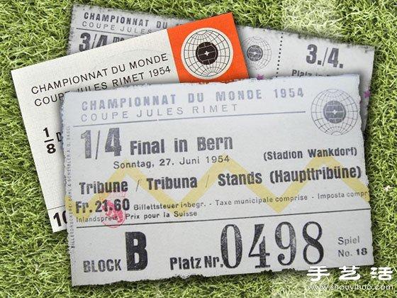 1930-2010的世界盃門票都長什麼樣?