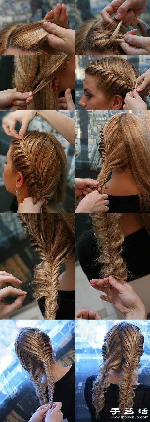 DIY古典優雅的編髮盤發髮型