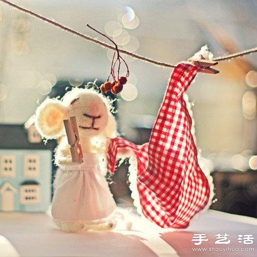 可爱的羊毛毡小老鼠 -  www.shouyihuo.com
