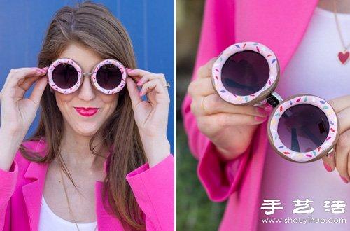 利用指甲油DIY製作甜甜圈太陽鏡