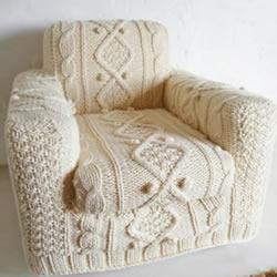 毛线针织漂亮沙发套