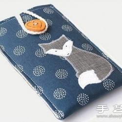 可爱的日式手工布艺手机套