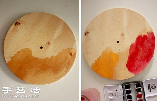 簡單DIY水彩錶盤掛鐘