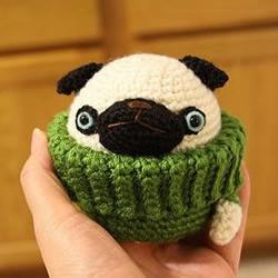 针织搞笑狗狗玩偶