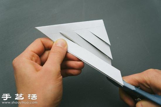 手工剪纸制作超美3d立体雪花教程_手艺活网