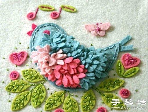 毛毡布制作的可爱小鸟 -  www.shouyihuo.com