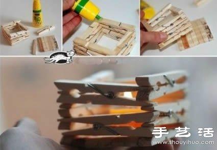 今天介绍的第一个小手工,是利用木夹子制作温馨浪漫小烛台,方法非常