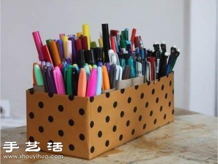 废物利用制作超简单收纳盒