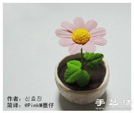 超轻粘土diy手工制作向日葵盆栽摆件